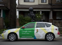 TORONTO, ONTARIO: SEPTEMBER 26, 2012 -- GOOGLE STREET VIEW -- A Google Street View camera-equipped car rests parked on a Toronto street Wednesday, September 26, 2012.  (Darren Calabrese/National Post)           //NATIONAL POST STAFF PHOTO ADD:  Google Streetview car Symington Ave /pws