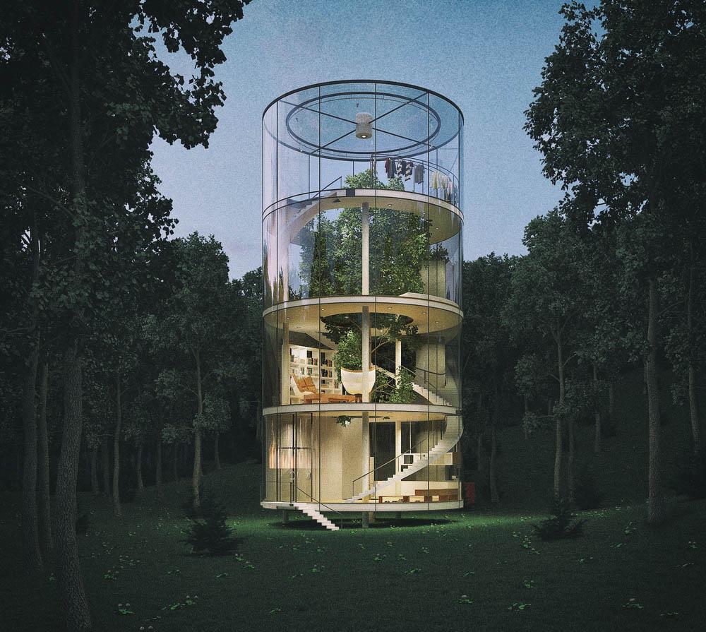 casa din copac Aibek Almasov